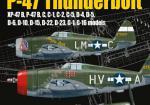 Kagero (Topdrawings). Republic P-47 Thunderbolt Xp-47B, B,C,D,G