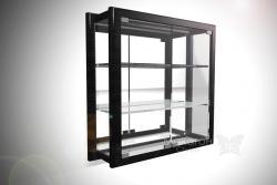 Витрина с двумя дверцами, задняя стенка стекло